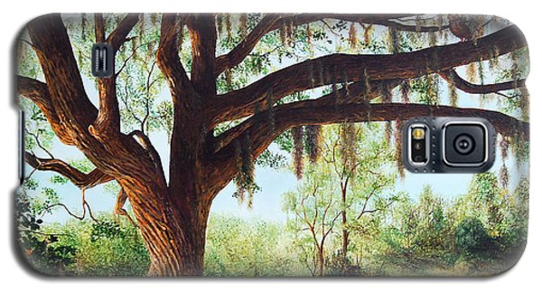 Galaxy S5 Case featuring the painting Wise Old Oak by AnnaJo Vahle