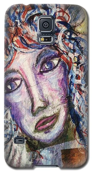 Galaxy S5 Case featuring the mixed media Wise Woman And Her Young Familiar by Mimulux patricia no No