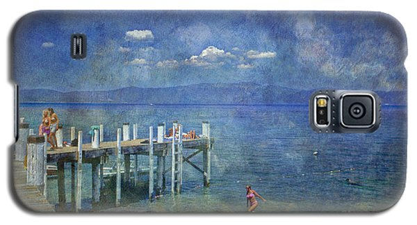 Galaxy S5 Case featuring the photograph Wish You Were Here Chambers Landing Lake Tahoe Ca by David Zanzinger