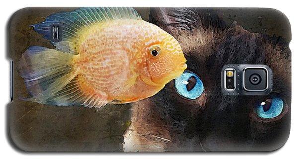 Wishful Thinking 2 - Siamese Cat Art - Sharon Cummings Galaxy S5 Case