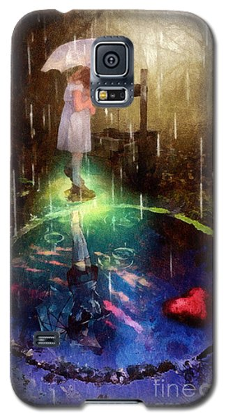 Galaxy S5 Case featuring the painting Wishing Well by Mo T