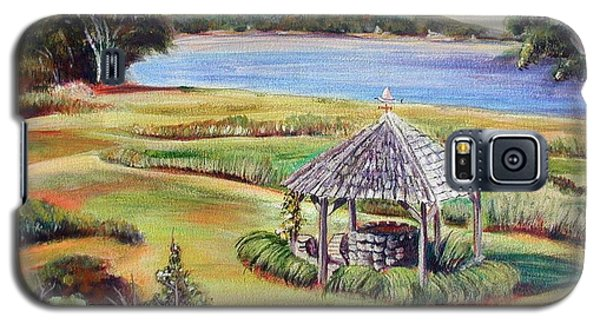 Galaxy S5 Case featuring the painting Wishing Well by Patricia Piffath