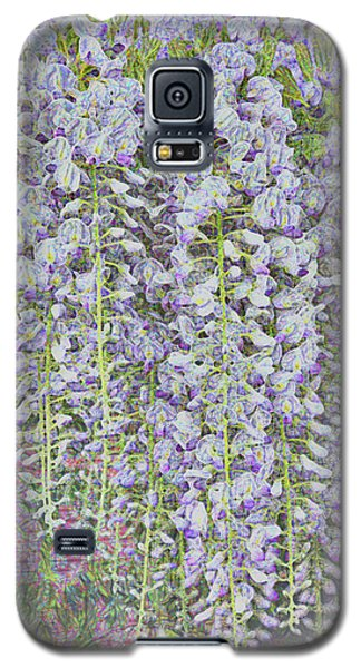 Galaxy S5 Case featuring the photograph Wisteria Before The Hail by Nareeta Martin