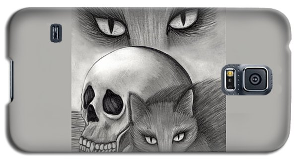 Galaxy S5 Case featuring the drawing Witch's Cat Eyes by Carrie Hawks