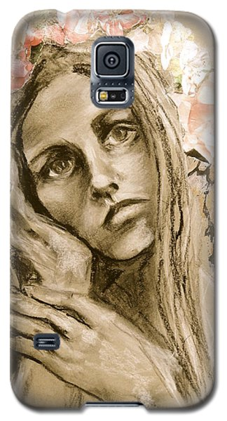 Galaxy S5 Case featuring the drawing Within by Mary Schiros