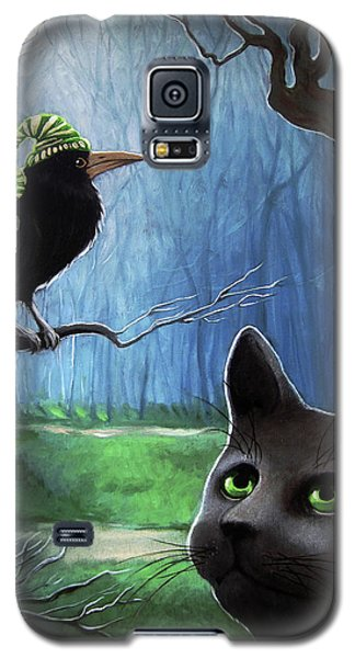 Wit's End - Winter Nightime Forest Galaxy S5 Case