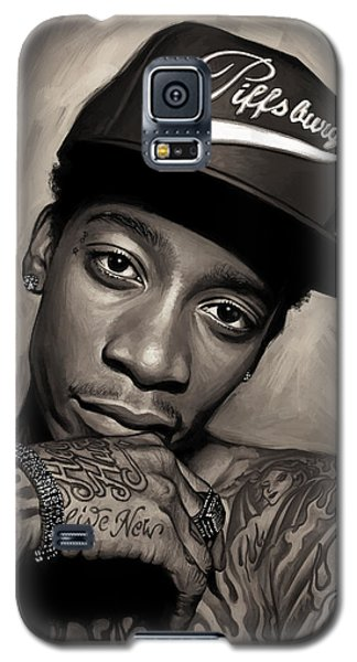 Galaxy S5 Case featuring the painting Wiz Khalifa Artwork  by Sheraz A