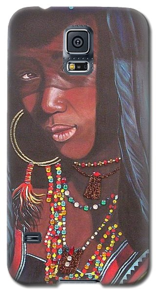 Galaxy S5 Case featuring the painting Wodaabe Girl by Sigrid Tune