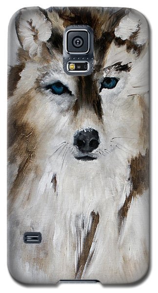 Wolf - Blue Star Galaxy S5 Case by Barbie Batson