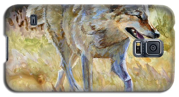 Galaxy S5 Case featuring the painting Wolf by Bonnie Rinier