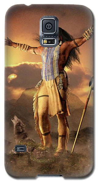 Galaxy S5 Case featuring the mixed media Wolf Clan by Shanina Conway