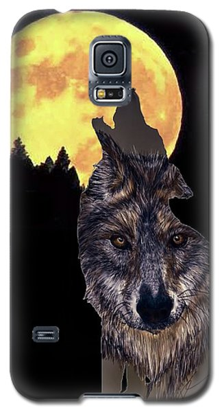 Wolf Howling At The Moon Galaxy S5 Case