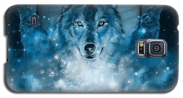 Wolf In Blue Galaxy S5 Case