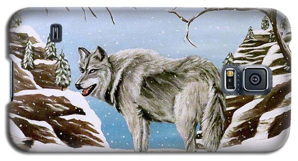 Wolf In Winter Galaxy S5 Case