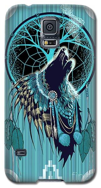 Wolf Indian Shaman Galaxy S5 Case