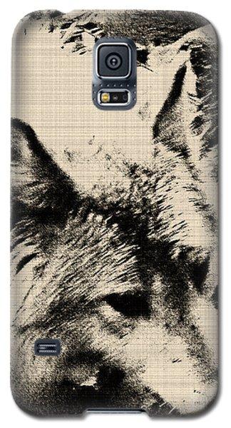Galaxy S5 Case featuring the digital art Wolf Lite by Debra     Vatalaro