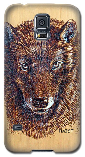 Galaxy S5 Case featuring the pyrography Wolf by Ron Haist
