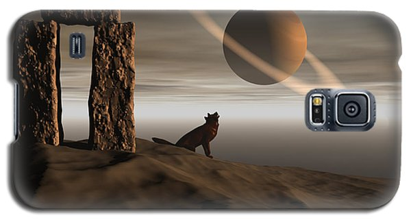 Galaxy S5 Case featuring the digital art Wolf Song by Claude McCoy