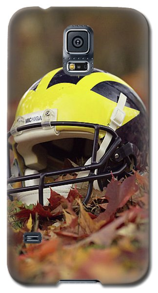Wolverine Helmet In October Leaves Galaxy S5 Case