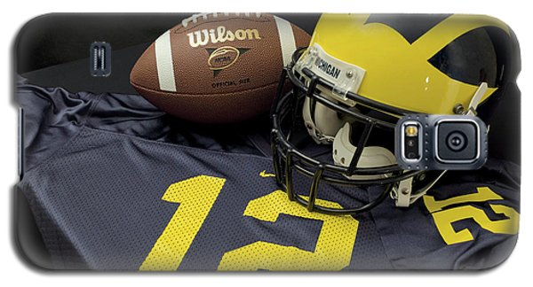Wolverine Helmet With Football And Jersey Galaxy S5 Case