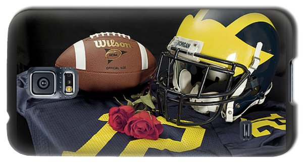 Wolverine Helmet With Roses, Jersey, And Football Galaxy S5 Case