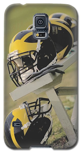 Wolverine Helmets On A Football Bench Galaxy S5 Case