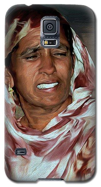 Woman A Struggler Galaxy S5 Case by Manjot Singh Sachdeva