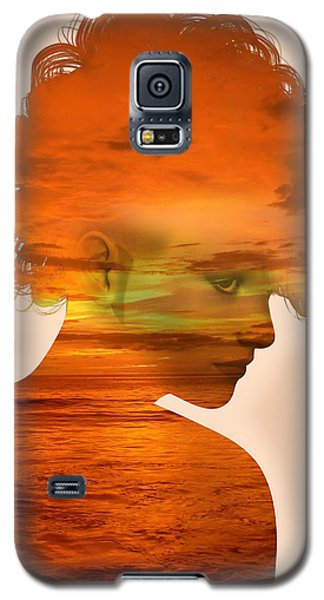 Woman And A Sunset Galaxy S5 Case