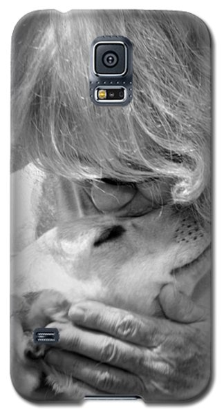 Woman And Dog Galaxy S5 Case