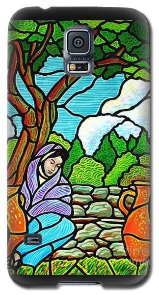 Galaxy S5 Case featuring the painting Woman At The Well by Jim Harris