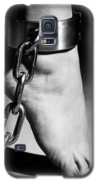 Woman Barefoot In Steel Cuffes Galaxy S5 Case