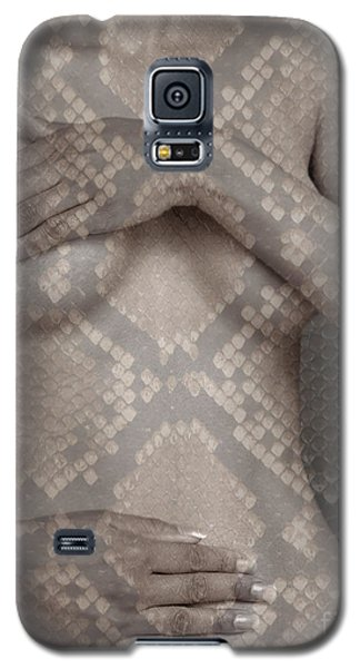 Galaxy S5 Case featuring the photograph Woman Covering Her Breasts by Michael Edwards