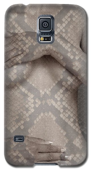 Woman Covering Her Breasts Galaxy S5 Case by Michael Edwards