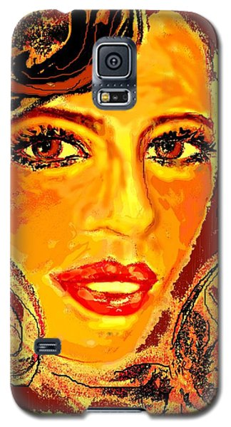 Galaxy S5 Case featuring the digital art Woman by Desline Vitto