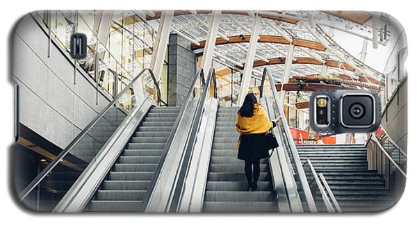 Woman Going Up Escalator In Milan, Italy Galaxy S5 Case