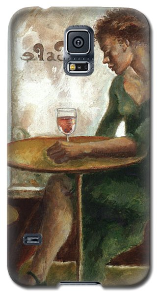 Woman In A Paris Cafe Galaxy S5 Case