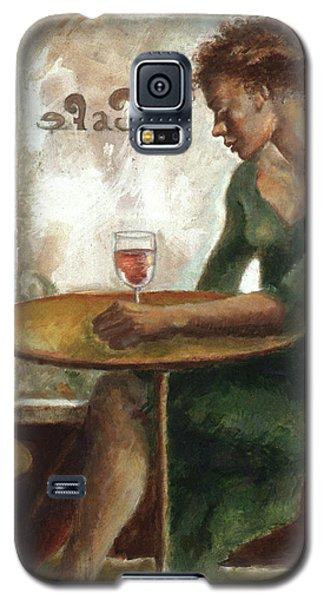 Woman In A Paris Cafe Galaxy S5 Case