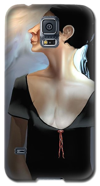 Woman In Black Galaxy S5 Case