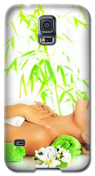 Woman In Spa Salon Galaxy S5 Case