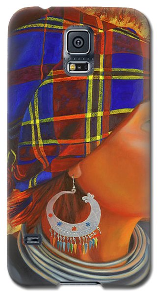 Woman In The Shadow Galaxy S5 Case