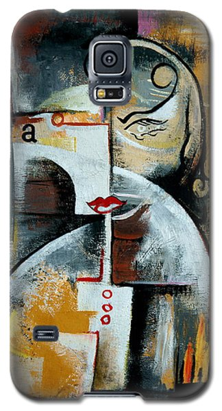 Galaxy S5 Case featuring the painting Woman by Kim Gauge