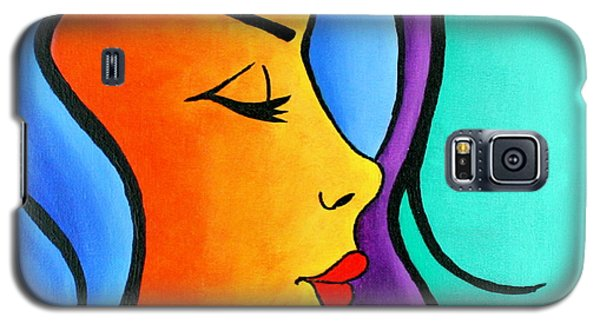Woman Of Color, Eyes Closed Galaxy S5 Case