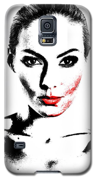 Woman Portrait In Art Look Galaxy S5 Case
