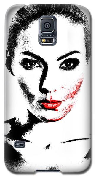 Woman Portrait In Art Look Galaxy S5 Case