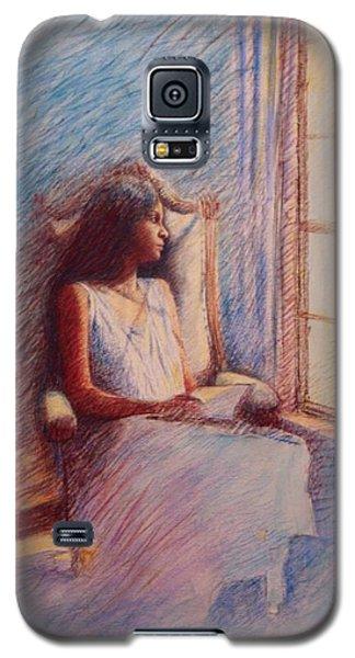 Woman Reading By Window Galaxy S5 Case