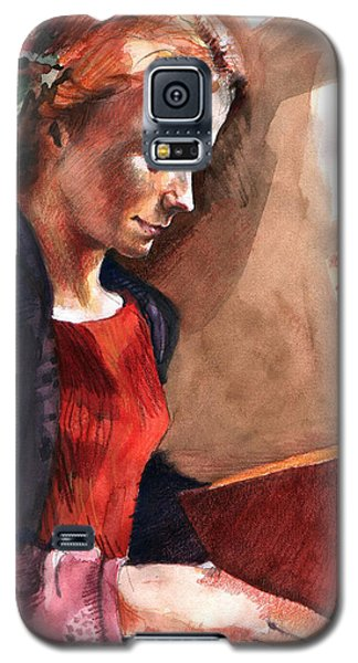 Woman Reading Galaxy S5 Case
