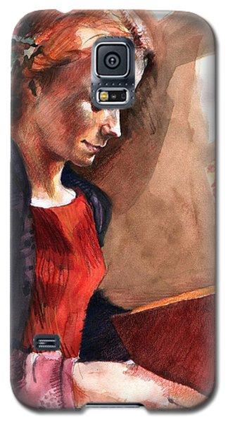 Woman Reading Galaxy S5 Case