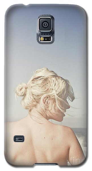 Galaxy S5 Case featuring the photograph Woman Relaxing On The Beach by Jorgo Photography - Wall Art Gallery