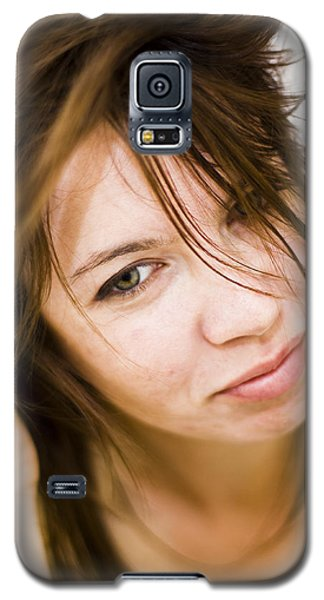 Galaxy S5 Case featuring the photograph Woman Shaking Her Hair by Gabor Pozsgai