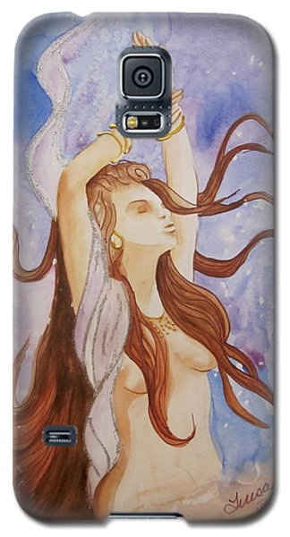 Galaxy S5 Case featuring the painting Woman Unleashed by Teresa Beyer